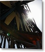 Ferris Wheel - 5d17616 Metal Print by Wingsdomain Art and Photography