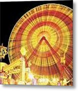 Ferris Wheel And Other Rides, Derry Metal Print