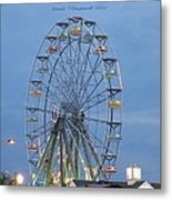 Ferris Wheel At Virginia Beach Metal Print