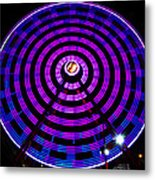 Ferris Wheel Blue Metal Print
