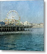 Ferris Wheel On The Santa Monica Pier Metal Print
