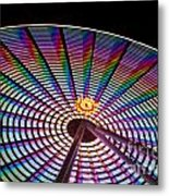 Ferris Wheel Rainbow Metal Print