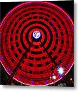 Ferris Wheel Red Metal Print