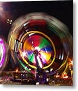 Ferris Wheels Go Round Metal Print