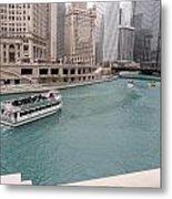 Ferry Through Chicago Metal Print