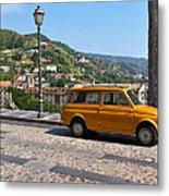 Fiat 500 Amantea Metal Print