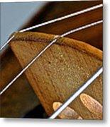 Fiddle Strings Metal Print