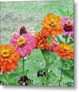 Field Of Flowers Impressionism Metal Print