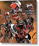 Fierce Androids Riot The City Of Tokyo Metal Print