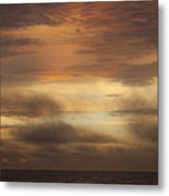 Fiery Atlantic Sunrise 1 Metal Print