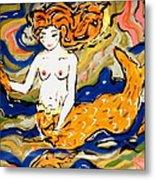 Fiery Mermaid Metal Print