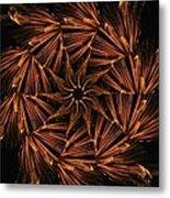 Fiery Pinwheel Metal Print