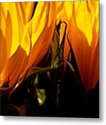 Fiery Sunflowers Metal Print