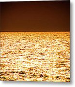 Fiery Sunset Over The Sea Metal Print