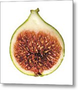 Fig Cut Open Isolated Metal Print