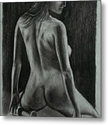 Figure Drawing Metal Print