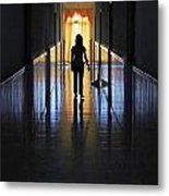 Figure In The Corridor Metal Print