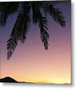 Fiji Sunset Glow Metal Print