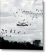 Final Flight Of The Enterprise Metal Print by Tolga Cetin
