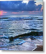 Final Sunrise - Beached Boat On The Outer Banks Metal Print