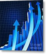 Financial Chart Metal Print