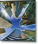 Financial Skyline Metal Print