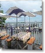 Fine Dining On The Gulf Coast Metal Print