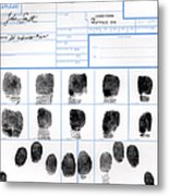 Fingerprint Identification Application Metal Print