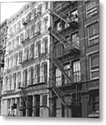 Fire Escapes Bw6 Metal Print by Scott Kelley