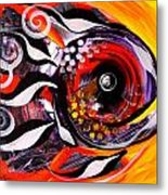 Fire Fish Four And A Half Metal Print