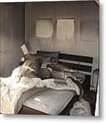Fire In The Bed Metal Print