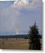 Fire In The Cascades Metal Print