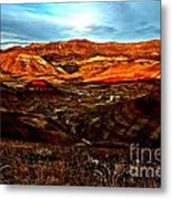 Fire In The Painted Hills Metal Print