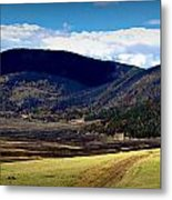 Fire On The Valle Metal Print