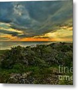 Fire Over The Outer Banks Metal Print