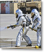 Firefighters Execute Fire Containment Metal Print
