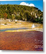 Firehole Lake Metal Print