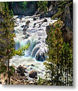 Firehole River Falls Metal Print