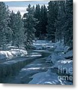 Firehole River In Yellowstone Metal Print