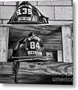 Fireman - Fire Helmets Metal Print