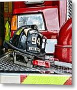 Fireman - Helmet Metal Print