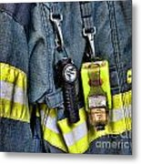Fireman - The Fireman's Coat Metal Print