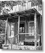 Fireman Cottage B And W Metal Print