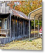 Fireman Cottage Metal Print