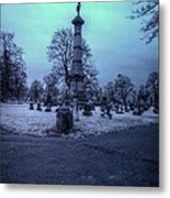 Firemans Monument Infrared Metal Print