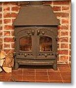 Fireplace Metal Print