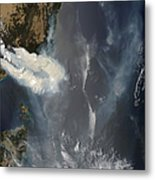 Fires And Smoke In Southeast Australia Metal Print