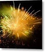 Firework Display At New Year's Eve Metal Print by Olaf Broders