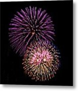 Firework Eyes Metal Print