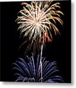 Fireworks  Abound Metal Print